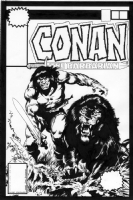 Conan the Barbarian #96 Cover Recreation Comic Art