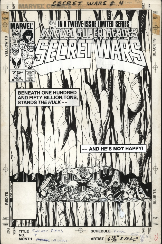 Secret Wars #4 Cover Comic Art