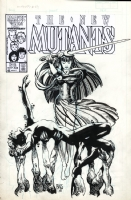 New Mutants #43 unused cover Comic Art