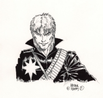 FAKE Arthur Adams Sketch #2 - Longshot, Comic Art