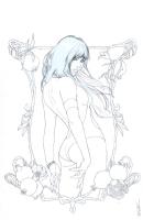 Vampirella #10 cover pencils, Comic Art