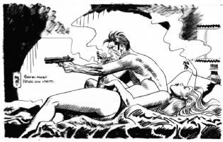 Torpedo commission by Jordi Bernet Comic Art