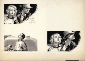 Raiders Of The Lost Ark unfinished storyboard Comic Art