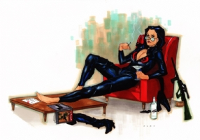 The Baroness after hours Comic Art