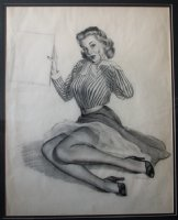 Gil Elvgren Comic Art