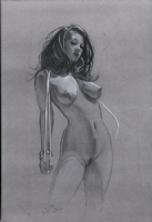 Nude pin-up Comic Art