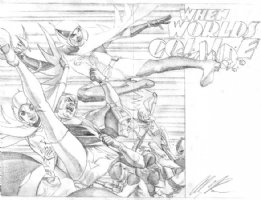 Wizard Magazine Pin-up prelim Comic Art