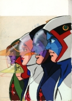 1977 Rendezvous Magazine Gatchaman cover, Comic Art