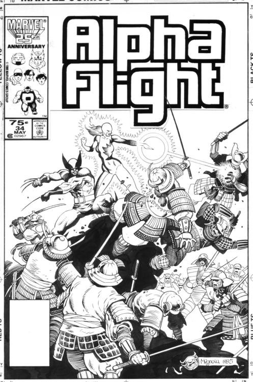 Alpha Flight #34 Cover Comic Art
