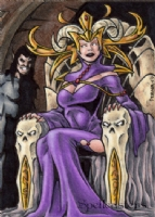 Spellcasters Sketch Card 1, Comic Art