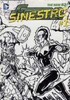 Sinestro - Oversized Sketch Card, Comic Art