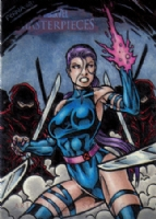 2008 Marvel Masterpieces Set 2 Psylocke AP Comic Art