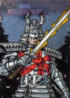 2008 Marvel Masterpieces Set 2 Silver Samurai AP Comic Art