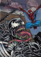 2008 Marvel Masterpieces Set 2 Venom vs Spider-Man AP Comic Art