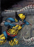 2008 Marvel Masterpieces Set 2 Wolverine AP Comic Art