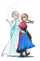 Frozen - Elsa and Anna - Megan Levens Comic Art