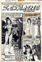 Adventure 413, page 2. Zatanna splash Comic Art