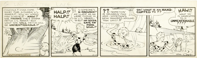 Li'l Abner Nov-13-42 Comic Art