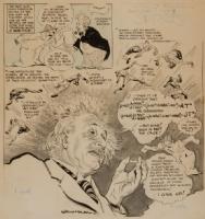 Albert Einstein by Willard Mullin Comic Art