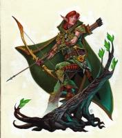 Chris Seaman - Elf Archer, Comic Art