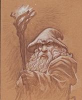 Justin Gerard - Gandalf Comic Art