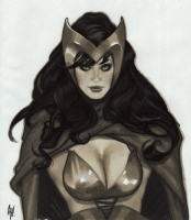 Adam Hughes, Scarlet Witch, Comic Art