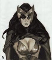 Adam Hughes, Scarlet Witch, Comic Art