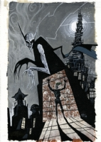 Batman Nosferatu Cover (1999) Ted McKeever, Comic Art