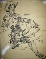 Cowboy gift to George Ward Comic Art