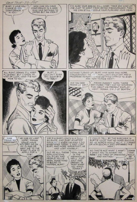 John Tartaglione LOVE TALES #73 (May57) P.2 Comic Art