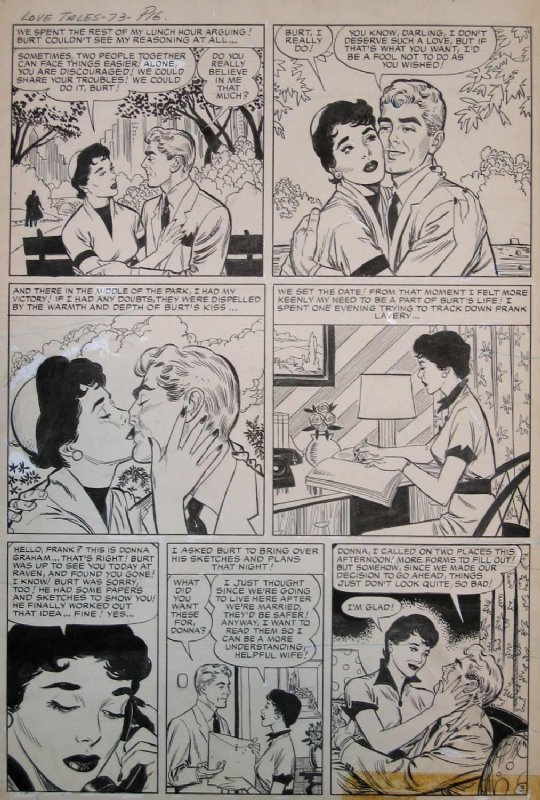 John Tartaglione LOVE TALES #73 (May57) P.3 Comic Art