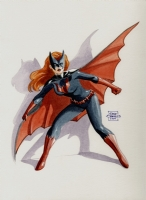 Batwoman painting by Gene Gonzales  Comic Art