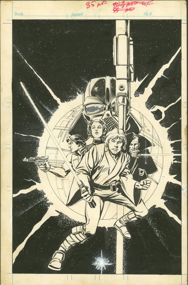 Star Wars #1 Cover Comic Art