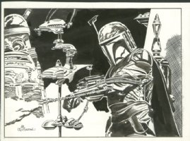 Boba Fett by Al Williamson Comic Art