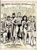 Superfriends Treasury Cover Comic Art