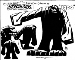 Igoo Model Sheet -- Herculoids Comic Art
