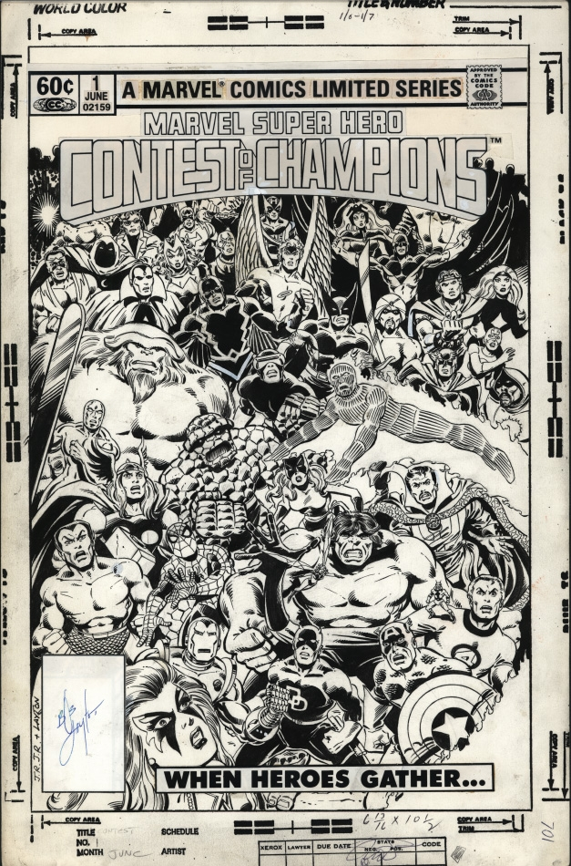 Contest of Champions #1 Cover Comic Art