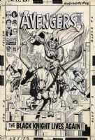 Avengers 48 Cover Comic Art