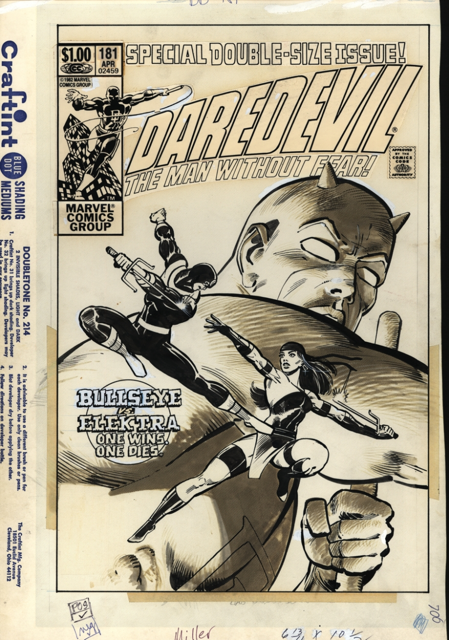 Daredevil 181 Cover Comic Art