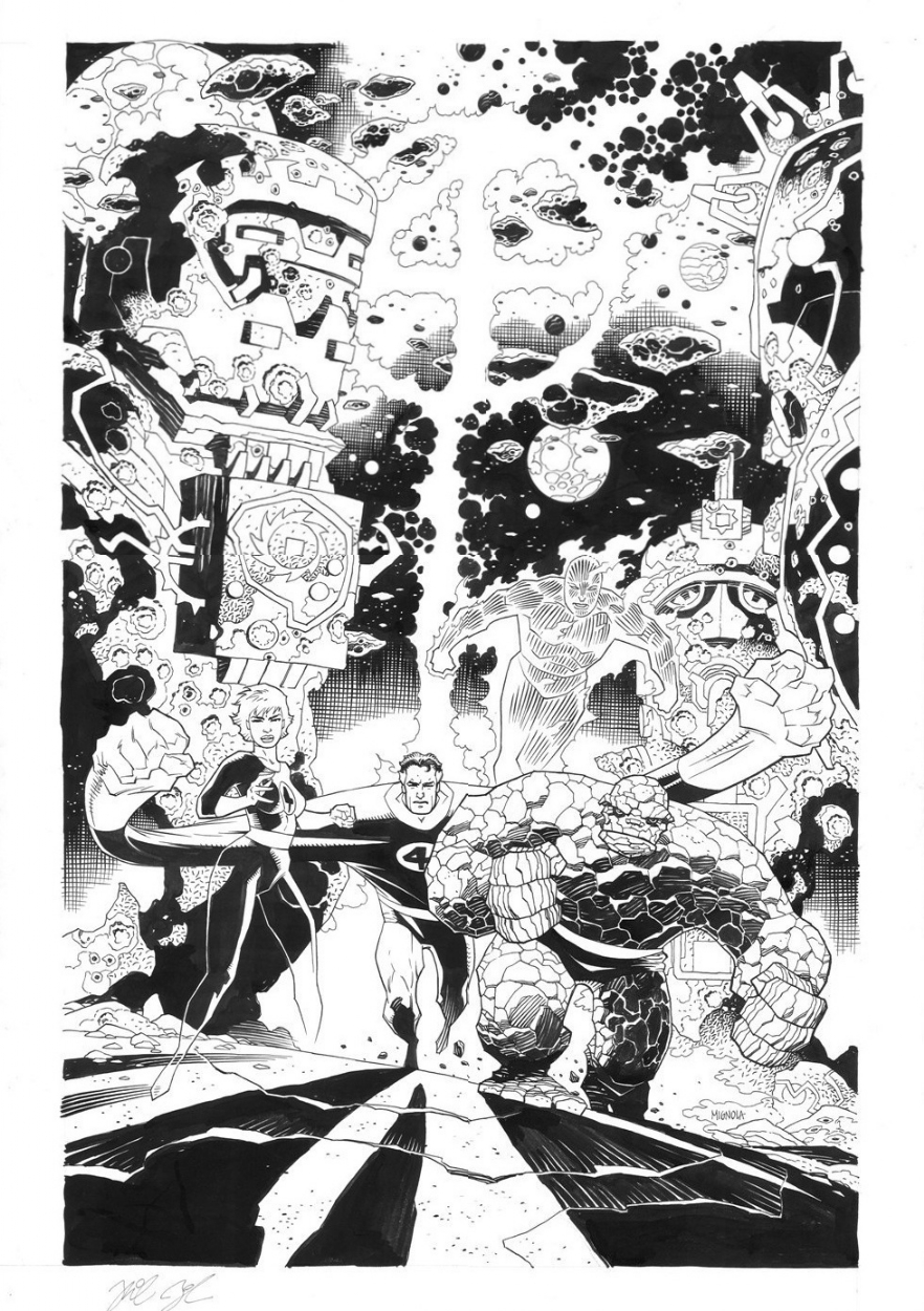 Fantastic Four Poster Comic Art
