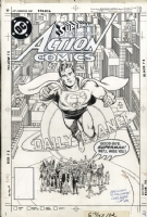 Action Comics 583 Cover Comic Art