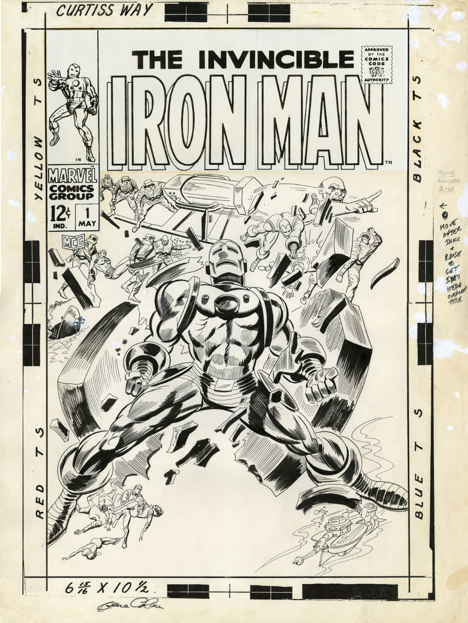 Iron Man 1 Cover Comic Art