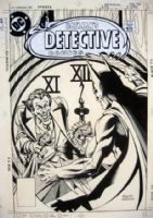 Detective Comics 475 Cover Comic Art