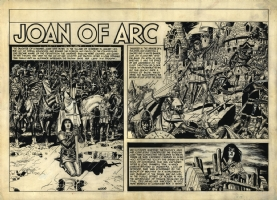 Joan of Arc Plate Comic Art