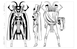 Keith Pollard : Marvel Universe HELA Comic Art