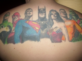 Alex Ross : Justice League : Seven Tattoo Comic Art