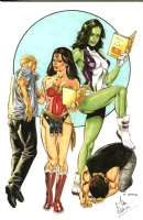 Wonder Woman and She-Hulk, Comic Art