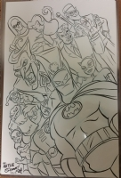 Gotham Batman Robin Batgirl Joker Catwoman Rogues, Comic Art