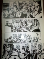 Dark Reign: The List - Avengers Page 7, Spider-man, Captain America, Hawkeye, Ms. Marvel, Spiderwoman, Comic Art