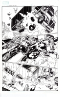 Heroes for hire 1 page 8 Black widow kicking face ! Comic Art